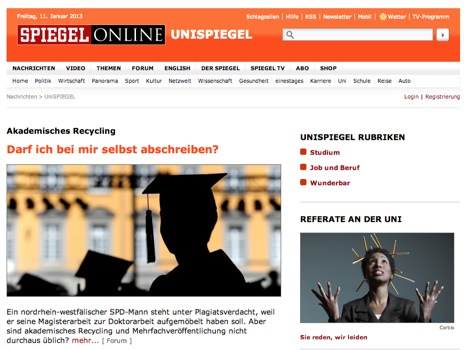 Screenshot Spiegel
