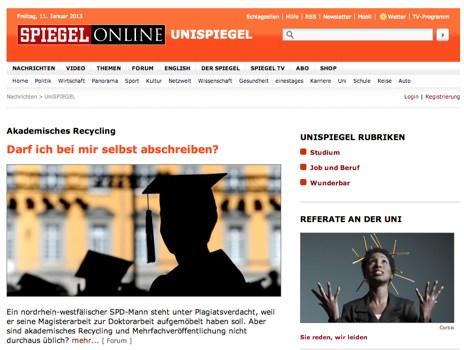 Screenshot Spiegel